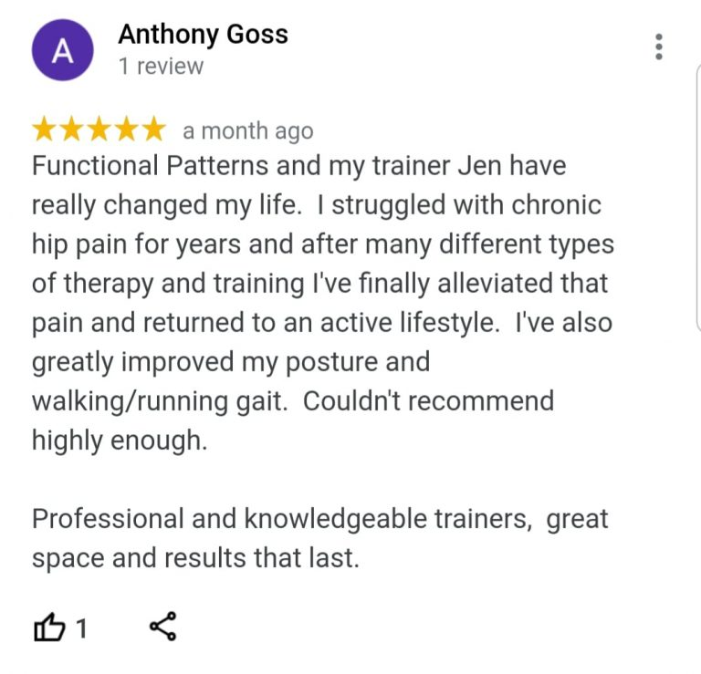anthony- google review - functional patterns melbourne