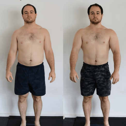 dan - front pose before and after - functional patterns melbourne