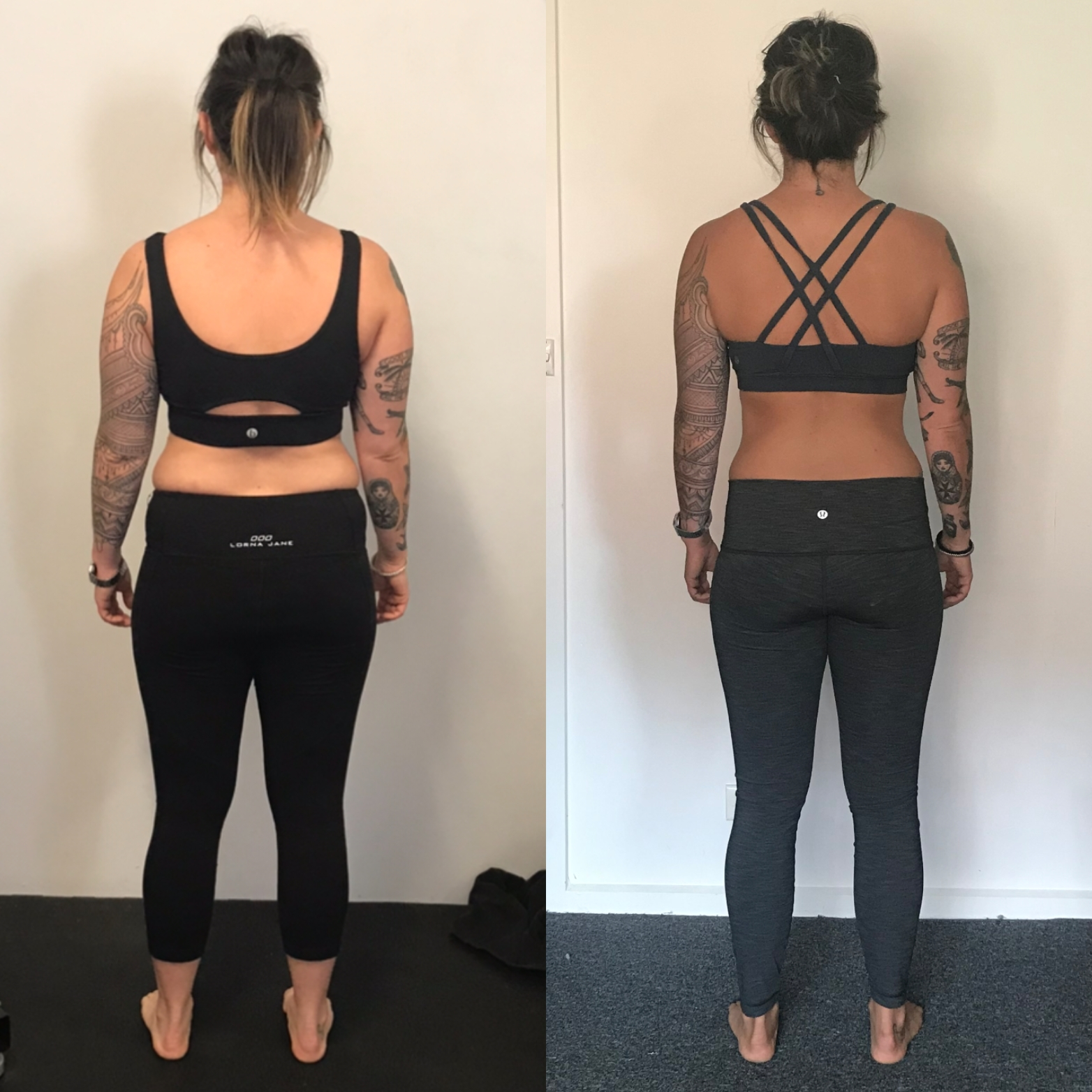 Jen bef and after posterior